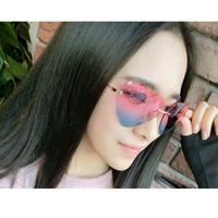2014 new color gradient sweet heart-shaped sunglasses, sunglasses fashion sunglasses