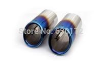 Blue Framed Muffler Tips ((Bolt-on Style) For VW Volkswagen New Scirocco