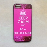Free Shipping 5pcs/lot keep calm and be a cheerleader case hard plastic case for iphone 5s 5