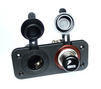 Good Quality  Dual Cigarette Lighter Socket & Power Adapter Charger Socket For Motorcycle Car 12V