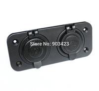 Good Quality  Dual Cigarette Lighter Socket & USB Power Adapter Charger Socket For Motorcycle Car 12V