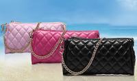 New 2014 High-grade leather fashionable messenger women bag  / black big Hand bag vintage girls shoulder bags free shipping