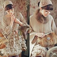 Lady Women Fashion Camellia Warm Soft Wool Crochet Headband Knit Wide Hair Band