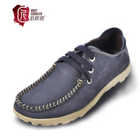 Men's casual shoes genuine leather cowhide the trend of nubuck leather comfortable single shoes