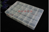 Free shipping 33 * 23 * 6 plastic box component storage section 24.