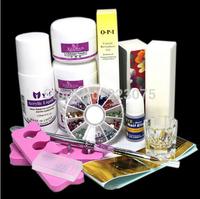 Nail Art Tips Kit DIY Acrylic Nail Liquid Powder Nail Art Tool Set DIY Kit