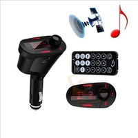 Car Kit MP3 Player Wireless FM Transmitter Modulator LCD USB SD MMC w/Remote