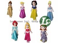 Retail Snow White,Sleeping Beauty,Ariel Sofia Princess Plush Toys Stuffed Animals Toys 7Styles to choose