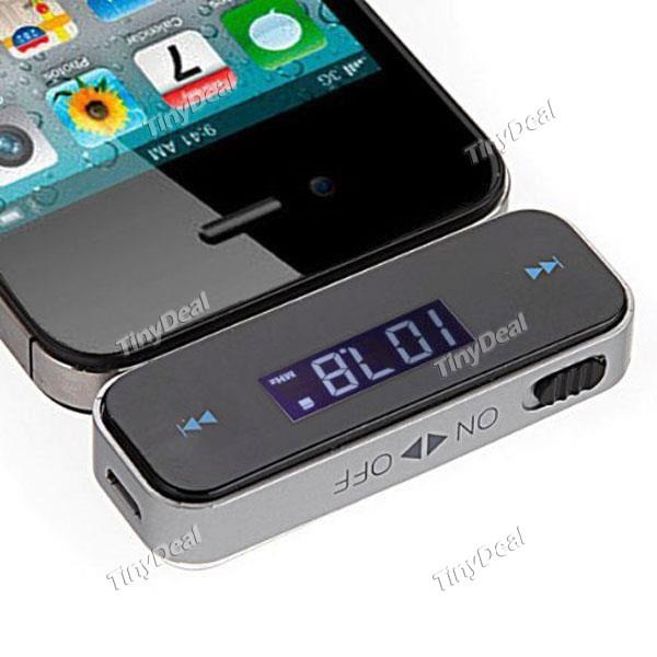 Wireless 3.5mm In-Car Handsfree Car Kit Music Radio MP3 FM Transmitter For iPod iPad iPhone 4 4S 5 Galaxy S2 S3 HTC ~1 TK1383(China (Mainland))