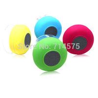 50pcs /Lot  New Portable Waterproof Wireless Bluetooth Speaker Shower Car Handsfree Receive Call & Music Suction Phone Mic