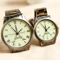 2014 new fashion Love Paris - Eiffel Tower Couple casual watches / relogio Vintage watch / Unisex quartz Wristwatches