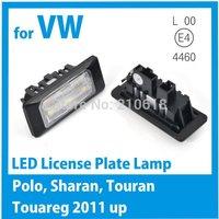 for VW Polo Sharan Touran Touareg 2011 LED license plate light Freeshipping