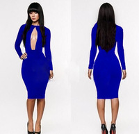 Blue Summer Women Clubwear Nightclub Wear Sexy Celebrity Evening Party Mini Bodycon Bandage Pencial Dresses Bodysuit