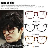 2014 Hot Sale Fashion Glasses Adult 51,782,013 New Korean Retro Metal Thin Legs Large Circle Frame Plain And The Same Paragraph