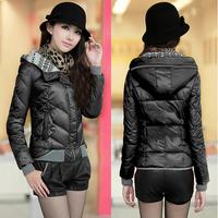 NAIULA Winter&Autumn Down&Parkas Women'S Patchwork Slim Warm Hooded Cotton Coat Women Winter Coats 2014 Women Jacket AS1296