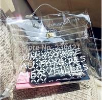 Free shipping Brand Designer fashion women's handbag plastic crystal transparent bag jelly bag beach bag big bag