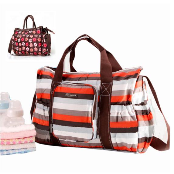 de moda de gran capacidad diaer flor bolsa de pañales bolsa de colores de los bebés mamá de la bolsa de pañales con cusion