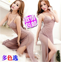 Free shipping Cultivate one's morality big yards women pajamas ,Women's lace dress sexy lingerie reality uniform temptation
