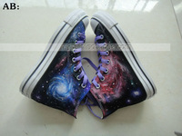 Free Shipping galaxy shoes Custom hand painted shoes
