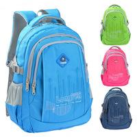 Fashion zipper nylon waterproof  kids backpacks children school bags mochila sports bag  for teenagers girls boys