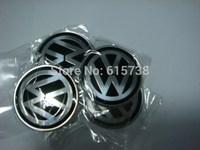 4 * High Quality 55mm Wheel Center Sticker Aluminum VW Badges VW wheel logo stickers