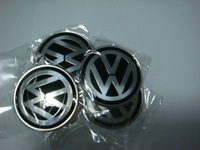 4 * High Quality 55mm Wheel Center Sticker Aluminum VW Badges VW wheel logo stickers