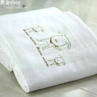 Free shipping 100% cotton gauze bath towel soft child baby newborn blankets white towel