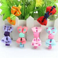 12pcs/Lot Kids/Girl/Princess/Baby Ribbon Hair Clip Children Hair Accessories Ribbon Bow Flower Hairpins&Baby Girl Barrettes