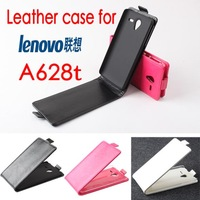 Hot Sale! New Luxury PU Leather Case for Lenovo A628t Open Up and Down + Free ship