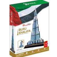 Promotion Gift Cubic Fun 3D Puzzle Toys Burj Khalifa (Dubai) Model DIY Puzzle Toys MC133h For Children's Gift