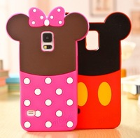 New  Cartoon Shadow Soft Rubber Silicon Cell Phone Case For Samsung Galaxy S5, S4, S3