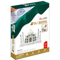 Promotion Gift Cubic Fun 3D Puzzle Toys Taj Mahal (India) Model DIY Puzzle Toys MC081h For Children's Gift