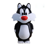 AC136 Cartoon black Tom Cat Model gift 4GB 8GB USB flash drives memory Stick pendrive Full Capacity 16GB 32GB