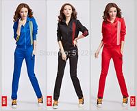 2014 Spring leisure suit female models female models South Korean silk women's casual sportswear sports fashion leisure suit