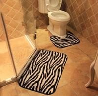 1set=2pcs anti-slip bathroom mat toilet rugs washroom room mat free shipping