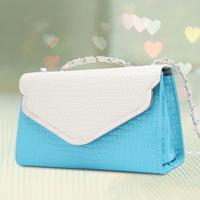 Fashion one shoulder 2014 women's handbag small bag for Crocodile chain color block casual cross-body bags