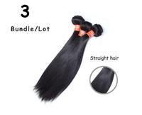 3pcs/lot,brazilian human hair extensions,virgin straight hair,lovely hair
