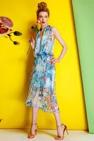 Silk Georgette Dress-1743/Fashion Women Party Dresses/2014 Summer New Desigual Bohemian Dress/S,M,L