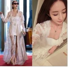 New 2014 Design Women White Lace Dress Sexy Plus Size Fashion Fall Dresses Girls Smocks Wrapped Dress Outfit,Free shipping(China (Mainland))