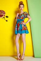 Twill Silk Dress-1746/Fashion Women Princess Party Dresses/2014 Summer New Desigual Cute Dress/S,M,L