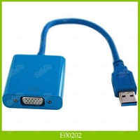 USB 3.0 To VGA Multidisplay Graphic Converter Adapter Cable 1920x1080 HD Win7/8 1PCS/LOT