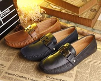 2014 brand high quality men genuine leather shoes summer flats casual sneakers driving shoes gommini loafers boats shoes HT02