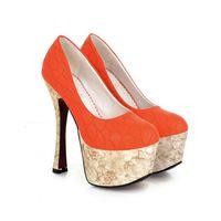 free shipping fashion high heeled pumps wedding shoes 2014 new waterproof single shoes13-9