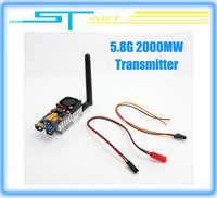 Boscam 5.8GHz 2000Mw 5.8G 2W 8Channel Wireless Audio Video RC Transmitter Sender FPV Aerial DJI Phantom Quadcopter Free Shipping