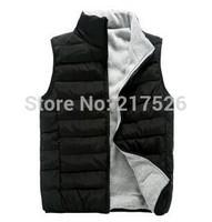 Cotton vest male autumn and winter down vest female lovers fashionable casual male kaross winter cotton vest