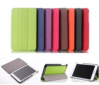 Fashion 3-fold PU Leather Book Case Cover for Asus MEMO Pad 8 ME181C ,with stand, retail and wholesale,1pc/lot