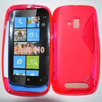Free Shipping S-line TPU Case For Nokia Lumia 610 ,soft Case for Lumia 610