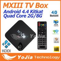 Original MXIII Android 4.4 Amlogic S802 Quad-Core MXIII TV BOX 2GB/8GB Google MX3 Support OTA 2.4/5GHz Dual Wifi Free Shipping