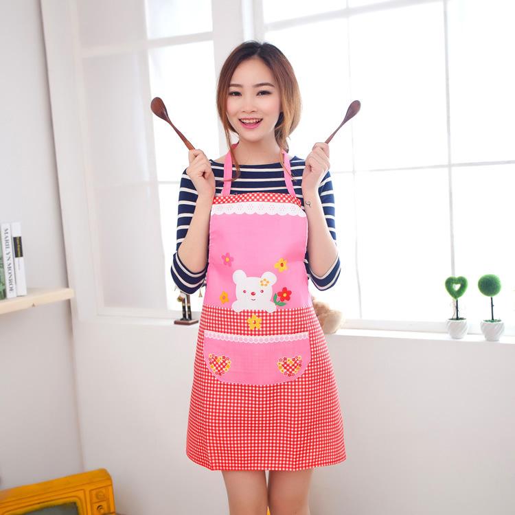 Free Shipping 5pcs/lot butcher apron women cooking apron waitress protective apron free shipping(China (Mainland))