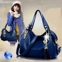 The newGuaranteed 100% Genuine Luxury Handbag Tote Leather Hobo Shoulder Bag Messenger Bags+5 Color+Free Shipping